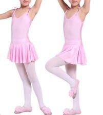NEW Ballet Dance Dress with Skirt/Tutu Kids Leotard Pink Girl 2/3/4/5/7/8/9 UK