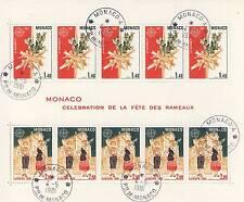 BLOC TIMBRE DE MONACO OBLITERE N° 19 CELEBRATION  DE LA FETE DES RAMEAUX