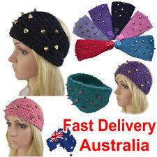 Crochet Handcrafted Knit Winter Ear Warmer Hair Band Stud Spikes Spiked Headband