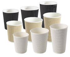 8/10/12/ ISOLATI ondulazione MONOUSO CARTA caffè bicchieri, bianco e nero /