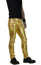 HORSE HORN GOLD GOTHIC PVC VINYL FETISH ROCKER RAVE TECHNO SKINNY JEANS PANTS