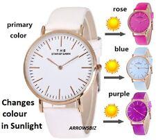 Colour Changing Sunlight Effect Fashion Analog Wrist Watch Quartz Color Unisex