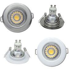 3 Stück LED Einbaustrahler Tim / Starr / 5W / 230V / Loch 55 bis 60mm / Ø = 80mm