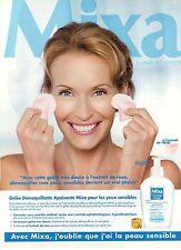 PUBLICITE ADVERTISING 2007  MIXA  gelée démaquillante ESTELLE HALLYDAY