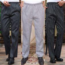 Mens Professional Chef Trousers Hotel Kitchen Cook Uniform Chef Work Pants M-4XL