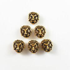 Gold/Silber Legierung Mini Löwenkopf Form Perlen Schmuck Zubehör Handwerk 40 Stk