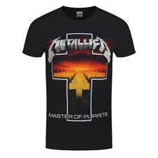 Oficial Metallica Master Of Puppets Cruz Banda De Rock T-Shirt