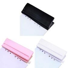 6 Hole Punch Loose-Leaf Standard Puncher Paper Adjustable Office Binding Supply