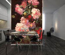 Papel Pintado Mural De Vellón Rosa Rosa Y Roja 3 Paisaje Fondo De Pantalla ES AJ