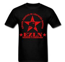 Zapatista EZLN Star Tierra Y Libertad Man Mask T-shirt Tee