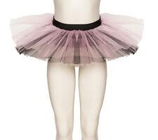 Pale Rosa & Schwarz Tutu Rock Tanz Ballett Halloween Kostüm Katz Alle Größen