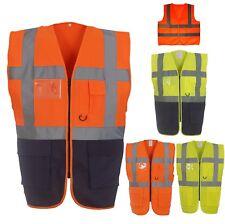 HI VIS Gilet/Exécutif Gilet de sécurité zippé gilet avec plusieurs poches Viz Nouveau