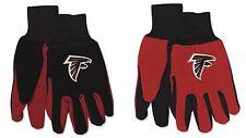 Nwt Nfl Atlanta Falcons No Slip Gripper Palm Utility Work Gardening Gloves New!