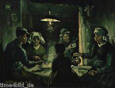 TIME4BILD VINCENT VAN GOGH Die Kartoffelesser Gemälde BILDER LEINWAND ART GICLEE