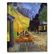Van Gogh terrazza del caffè la sera quadro stampa tela dipinto telaio arredo