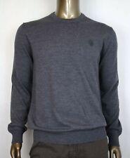 Gucci Men's Medium Gray Wool Long Sleeve Crewneck Pullover Sweater 438137 1200