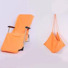 Chair Cover Microfiber Soft Sunbath Beach Towel Pool Outdoor Garden Supplies DD