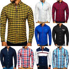 Freizeithemd Shirt Langarmhemd Hemd Klassisch Herren Mix BOLF 2B2 Classic WOW