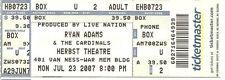 JULY 23 2007 RYAN ADAMS SAN FRANCISCO HERBST THEATRE UNUSED TICKET STUB
