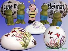 Keramik Deko Figur Frosch Biene, Deko Stein Herz Kugel, Canterbury Bell Fairies