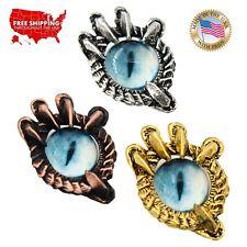 Creative Pewter Designs Dragon Claw Blue Eye Necklace & Pendant, G019BLU
