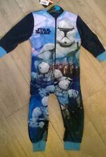 Star Wars blue one piece nightwear pyjamas sleep suit NEW Boys & Girls Age 2 3 4