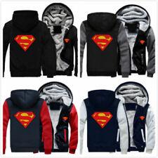 Winter Thicken Hoodie Superman Zipper Jacket Sweatshirt Coat Casual Unisex