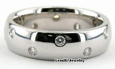 14K White Gold Mens Diamond Wedding Bands Ring 6Mm