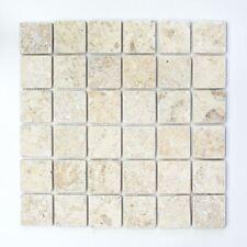 Mosaik Fliese Kalkstein Naturstein weißgelb Seabed 29-48048_f |10 Fliesen