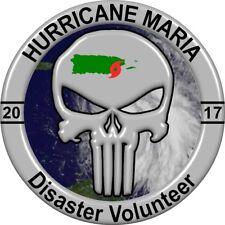 Hurricane Maria Disaster Volunteer 2017 Sticker, 5 Different sizes, Puerto Rico
