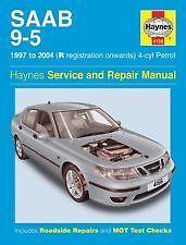 Haynes propriétaires manuel atelier + VOITURE SAAB 9-5-4-cyl ESSENCE (97 - 04) R à 54 4156