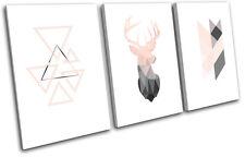 Deer Stag Geometric Modern Animals TREBLE LONA pared arte Foto impresion