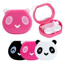 Kit custodia per lenti contatto cover porta lentine vista Panda + specchietto