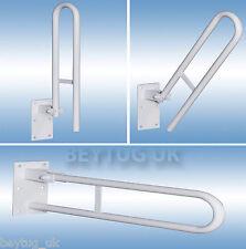 Hinged Bathroom Safety Rail Handle Grab Bar Support Drop Down,600MM Length,Steel