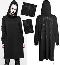 Robe sweat hoodie gothique punk lolita fashion capuche squelette relief Punkrave