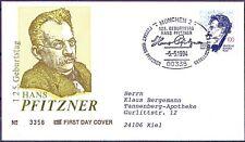 BRD 1994: Hans Pfitzner! FDC del N. 1736 con timbro di Monaco circa andato!! 1704