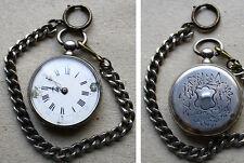 Montre à gousset en ARGENT massif  19e siècle  silver pocket watch