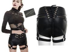 Short steampunk cuir sangles gothique punk lolita clous corset harnais PunkRave