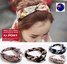 Chic Women Retro BOHO Flower Cross Bandana Beach Hair wrap Head band headband