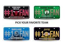 NBA Teams - #1 Fan Bling Glitter Metal License Plate Tag Auto Car Truck Wall