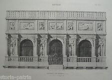 ARCHITETTURA_ARTE_VENETO_VENEZIA_LOGGETTA DEL SANSOVINO_BELLA ANTICA STAMPA