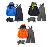 OshKosh Toddler Boys 4PC Ski Snowsuit Jacket Bib Hat Neck Warmer 12M 18M 24M NWT