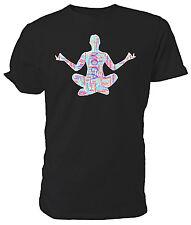 Yoga Word Cloud T shirt, Zen, Meditation Choice of size & colours,