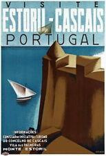 84011 Vintage Visit Estoril Cascais Portugal Portugese WALL PRINT POSTER CA