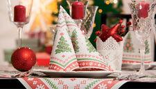 20 servilletas Pañuelos mesa decoración COCINAR Santa noche Navidad Árbol de
