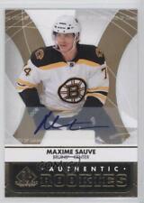 2012 SP Game Used Edition Autographs Autographed #103 Max Sauve Auto Hockey Card