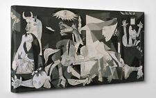 Quadro Picasso GUERNICA Stampa su Tela, Poster Pannello mdf - Vernice Pennellate
