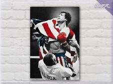' Rocky Balboa American Flag ' I II III IV Movie Film Canvas ~ We Did It ~
