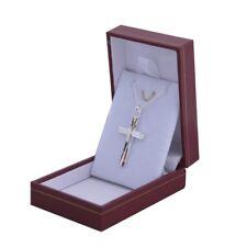 ensemble collier croix soleil et chaine en argent massif homme femme avec boite