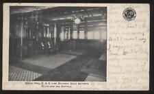 Postcard CLEVELAND / BUFFALO C&B Line Social Hall 1906?